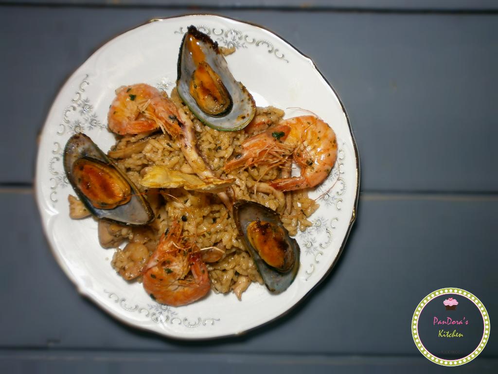 ριζότο θαλασσινών-ριζότο-ριζότο του ψαρά-σαρακοστή