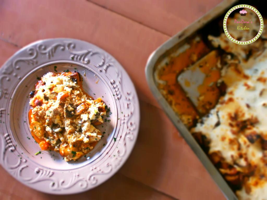 μπριάμ στο φούρνο- μπριάμ με κρέμα φέτας- φέτα- λαχανικά- ελληνική κουζίνα
