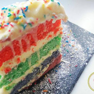 Κέικ ουράνιο τόξο (rainbow cake)