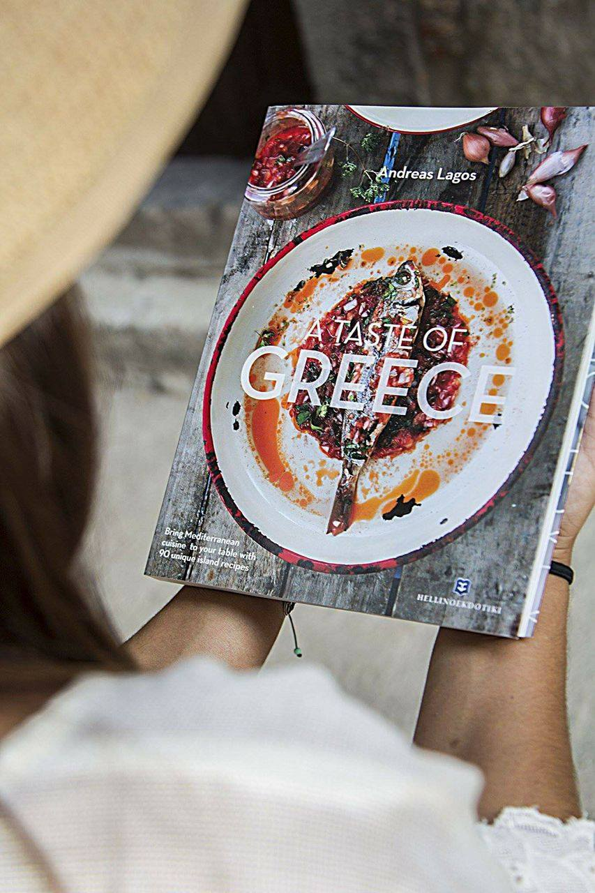 instagram giveaway-recipe book-a taste of Greece-andreas lagos