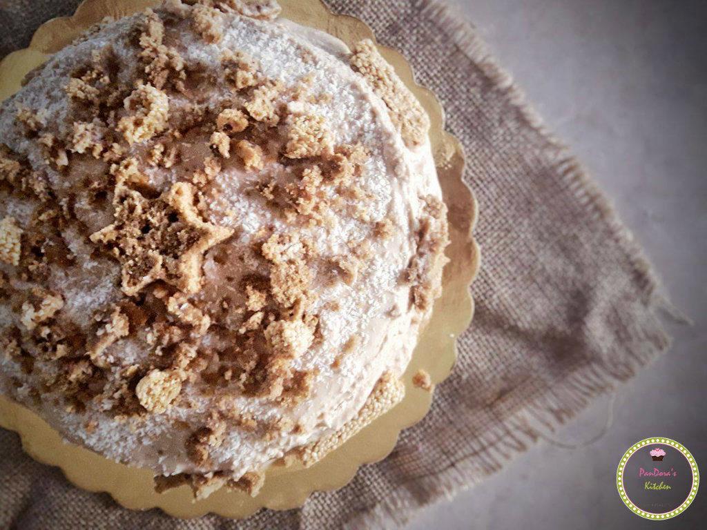 τούρτα με mousse ταχίνι χωρίς ζάχαρη και γαλακτοκομικά-τούρτα-ταχίνι-χωρίς ζάχαρη-κεικ-παντεσπάνι