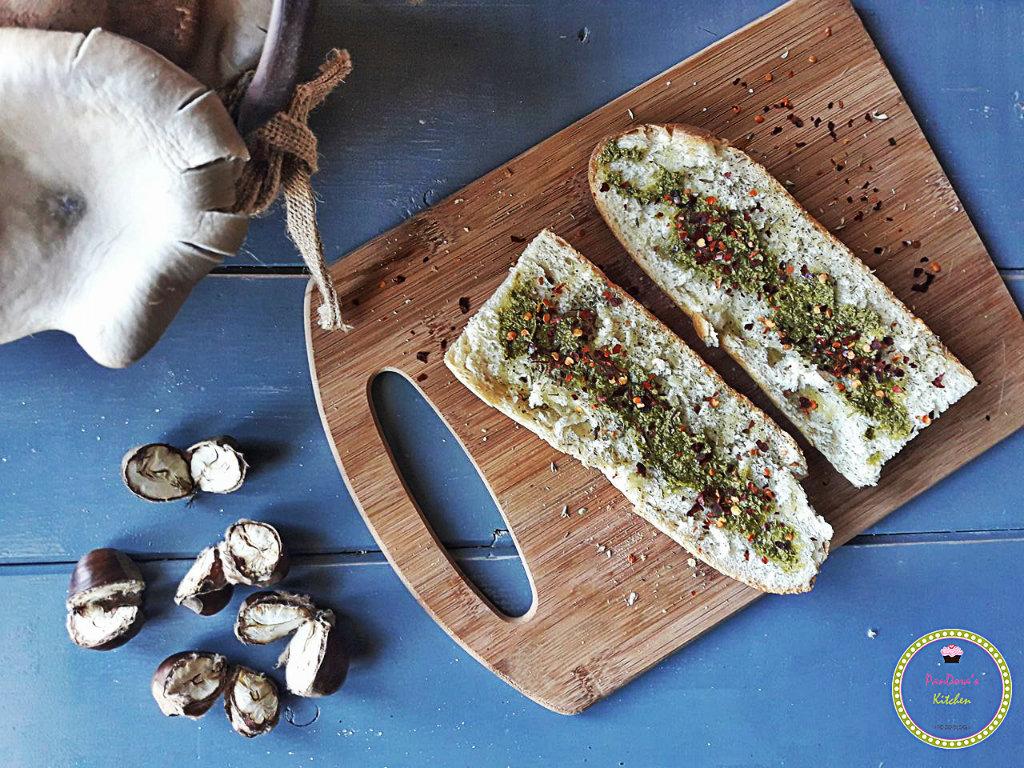μπρούσκέτα-σούπα-πέστο-βασιλικός-ψωμί