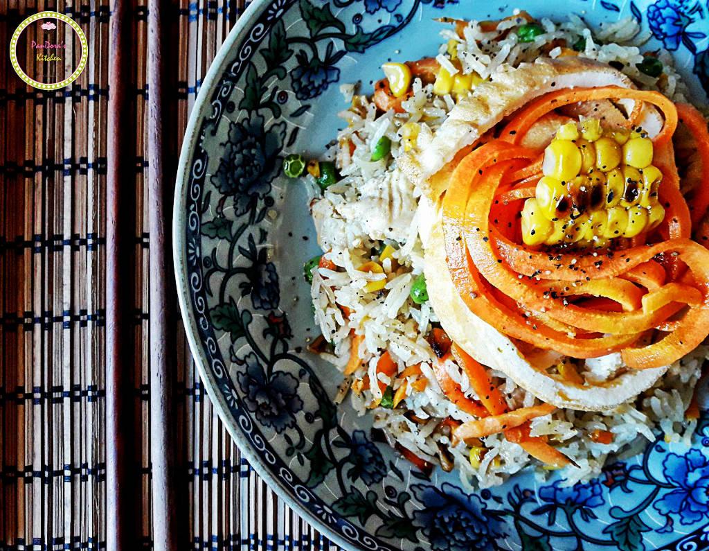 Κινέζικο Τηγανιτό Ρύζι-ρύζι-αγρόκηπος χαλβατζή-pandora's kitchen