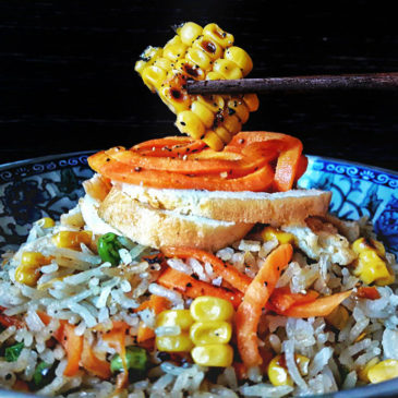 Κινέζικο Τηγανιτό Ρύζι-ρύζι-λαχανικά-καλαμπόκι-αγρόκηπος χαλβατζή