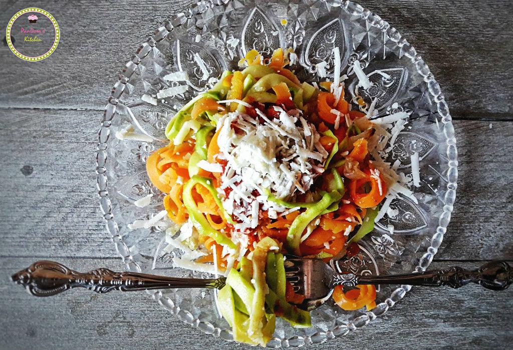 linguine λαχανικών με αλμυρό τυρί Μαστέλο-Μαστέλο-τυρί-Χίος-λαχανικά