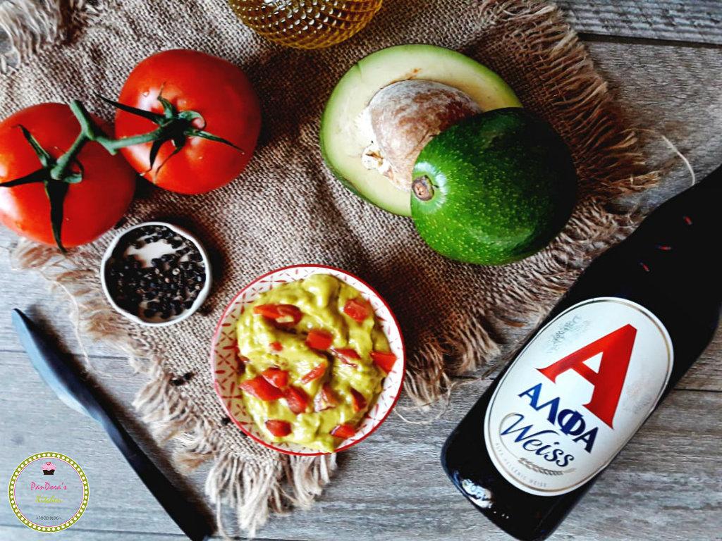 beer-alfa-weiss-pandoras kitchen-guacamole-avocado