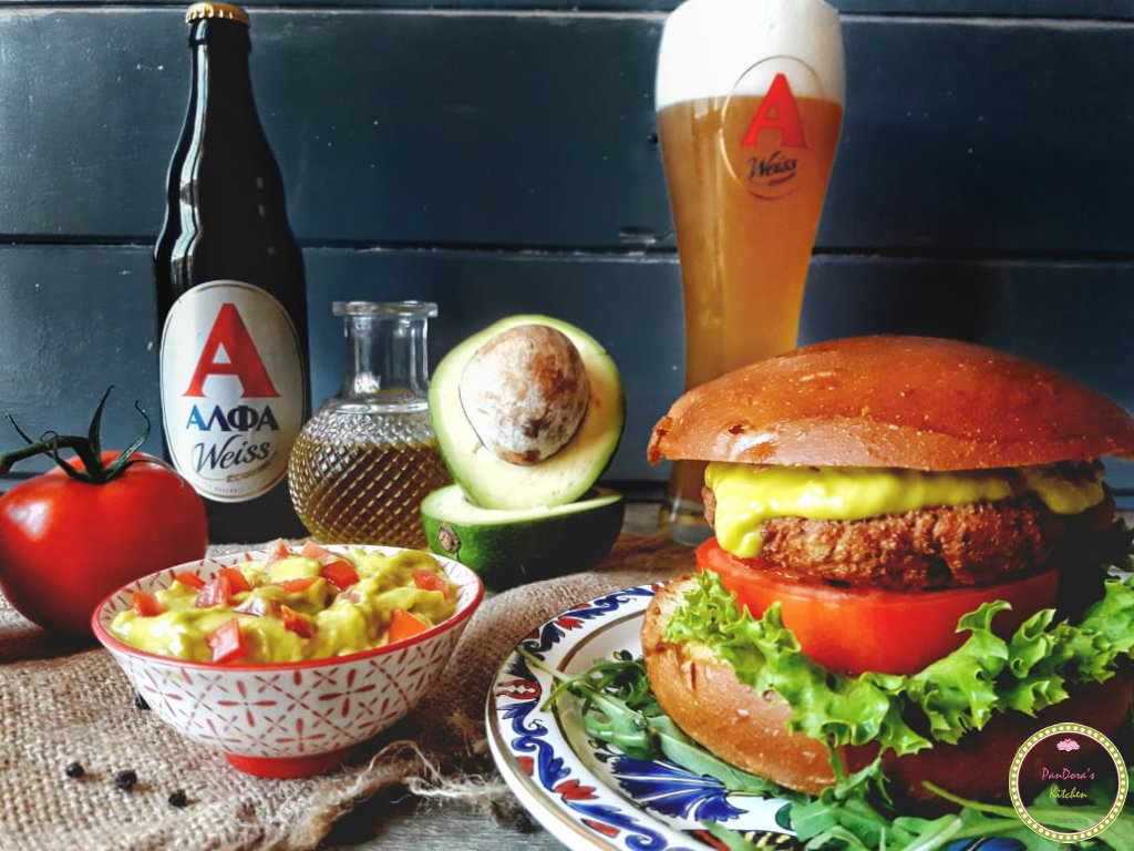 μπύρα-ΑΛΦΑ-weiss-burger σολομού