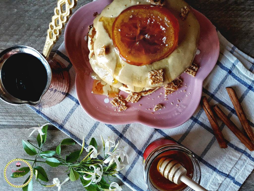 healthy_pancakes-pancake-fluffy_pancake-citrus_chios-tahini-zelos_greek_artisan-pandoras_kitchen