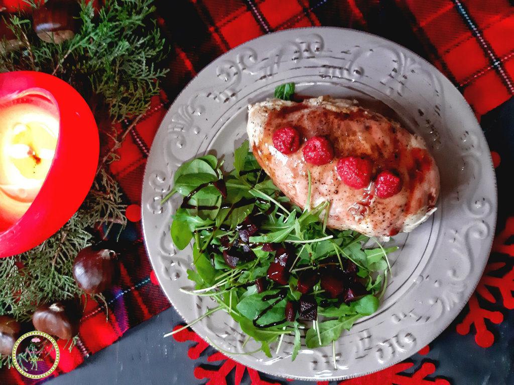 γεμιστό κοτόπουλο με σάλτσα μούρων-κοτόπουλο-άλφα-μπύρα-χριστουγεννιάτικη συνταγή